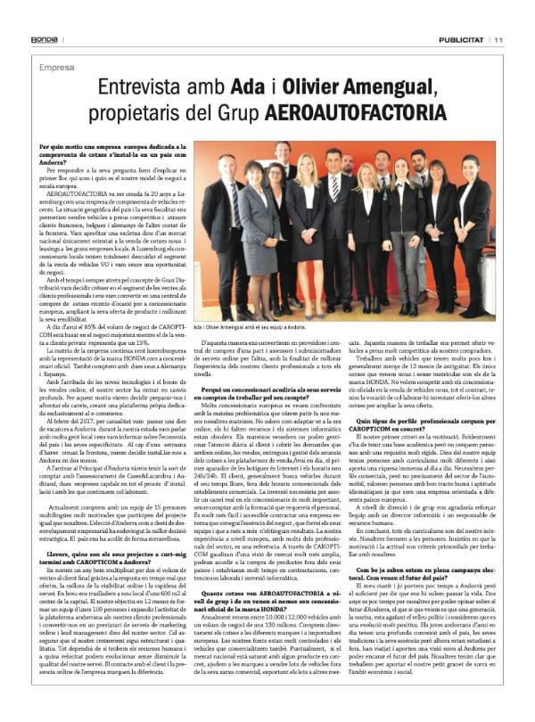 BonDia: Entretien avec Ada et Olivier Amengual, propriétaires du groupe AERO AUTOFACTORIA